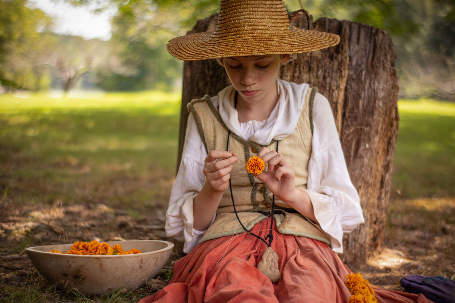 A homeschool program offers students the chance to interpret to the public and learn historical skills