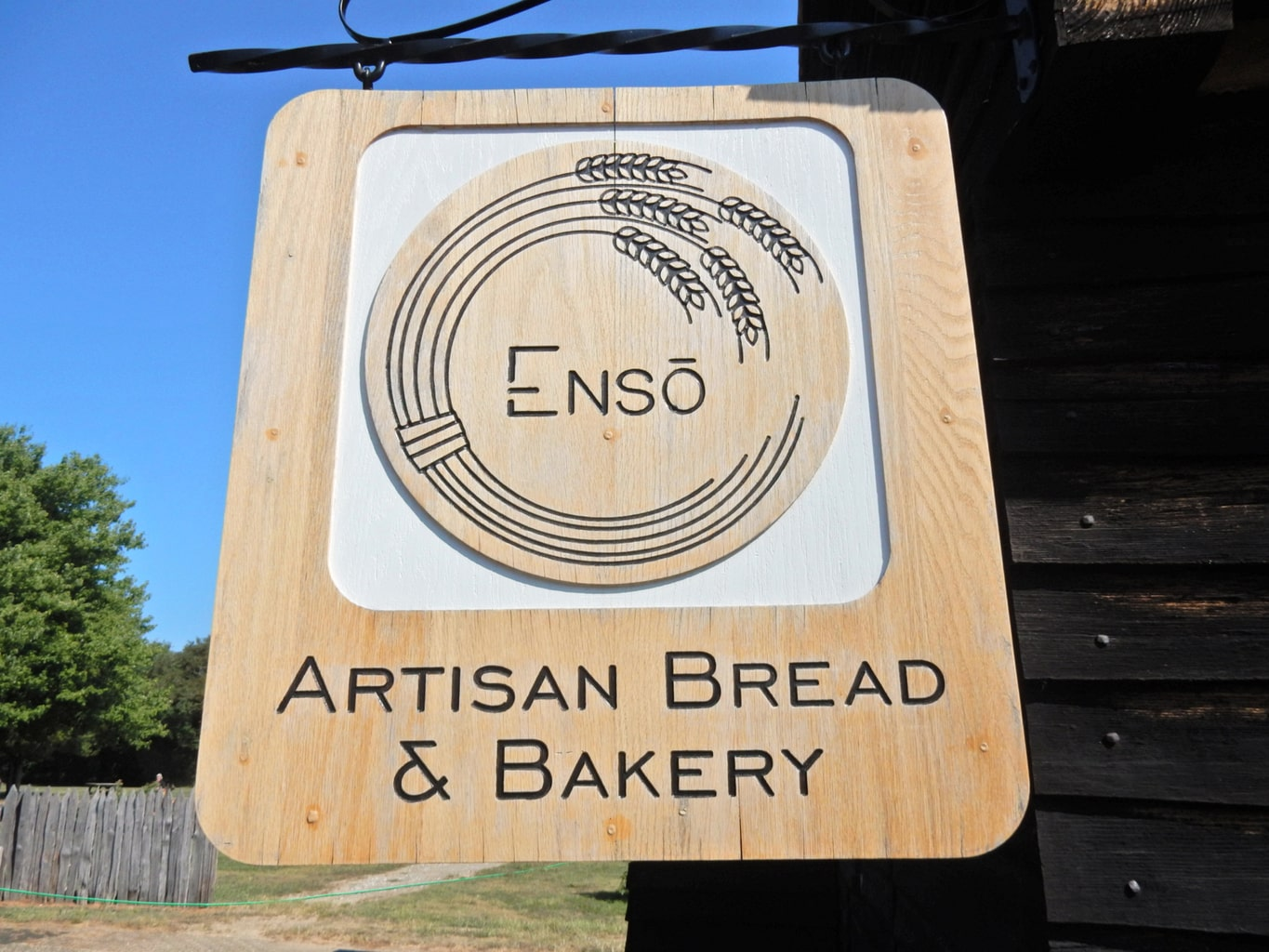 Wooden sign for Enso Kitchen