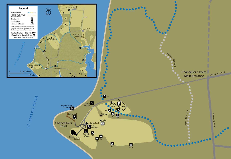 Campsites Map - Chancellor's Point