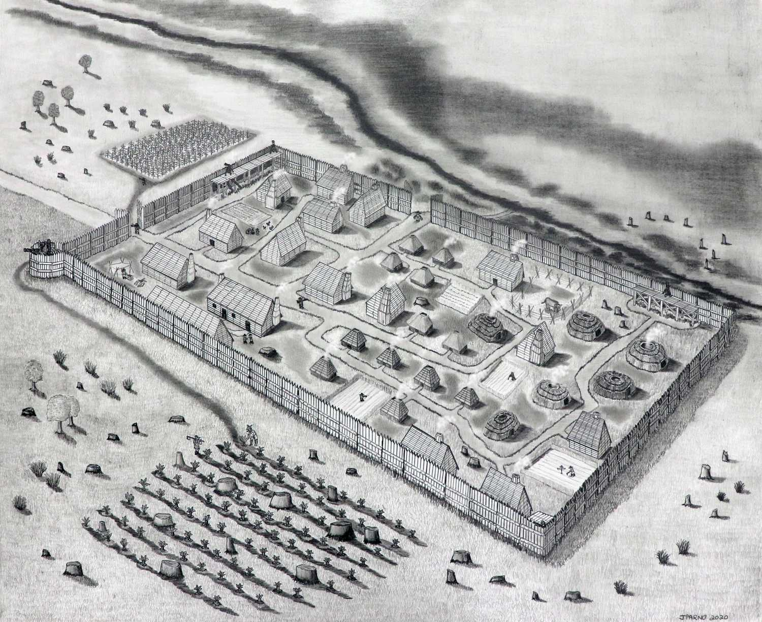 1634 Fort Drawing
