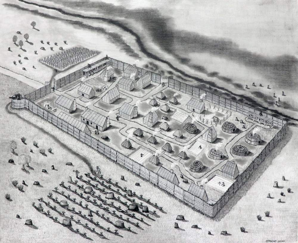 HSMC Archaeologist discovers location of 1634 St. Mary's Fort
